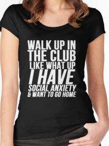 Social Anxiety At The Club Women's Fitted Scoop T-Shirt