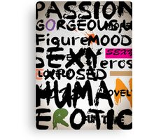 all abut words 3 Canvas Print