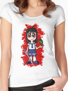 Japanese School girl Women's Fitted Scoop T-Shirt