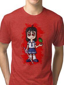 Japanese School girl Tri-blend T-Shirt