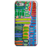 Colorful elongated Forms Pattern iPhone Case/Skin