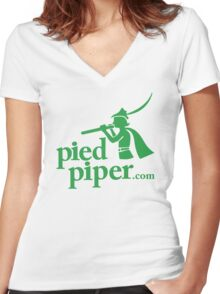 Silicon Valley's Pied Piper Shirt Women's Fitted V-Neck T-Shirt