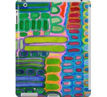 Colorful elongated Forms Pattern iPad Case/Skin