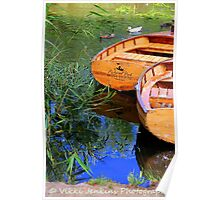 Wooden Boats in Richmond Poster