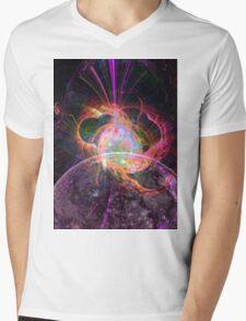 Moon Explosion Mens V-Neck T-Shirt
