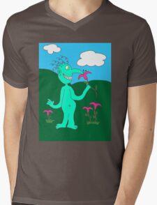 Mr. Smile Mens V-Neck T-Shirt