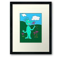 Mr. Smile Framed Print
