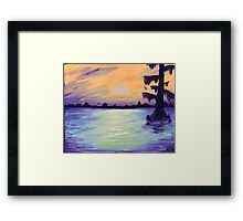 Bayou Sunset Framed Print