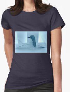 Little Penguin Blue Womens Fitted T-Shirt