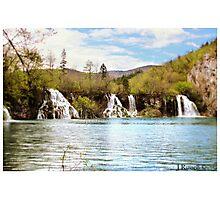 Triple waterfall - Plitvice Lakes, Croatia Photographic Print