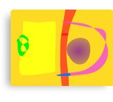Yellow Target Canvas Print