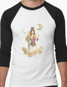 'The Key' Steam punk girl by Scot Howden Men's Baseball ¾ T-Shirt