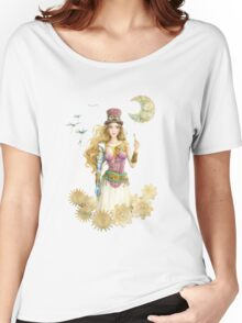 'The Key' Steam punk girl by Scot Howden Women's Relaxed Fit T-Shirt