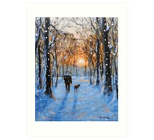A Winters walk Art Print