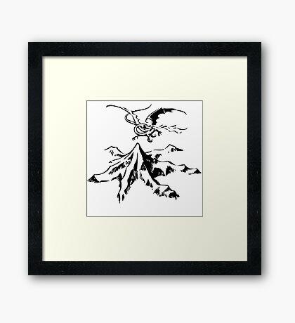 Erebor&Smaug Framed Print