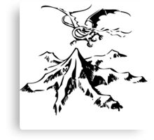 Erebor & Smaug Canvas Print