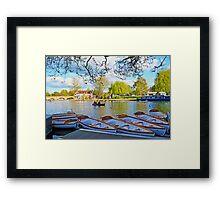 Stratford-upon-Avon by the river Framed Print