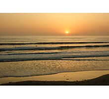 Golden California Sunset - Pacific Beach, San Diego Photographic Print