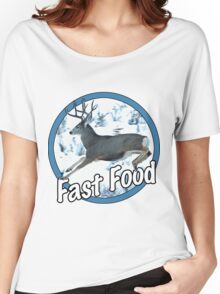 Fast Food Mule Deer Women's Relaxed Fit T-Shirt