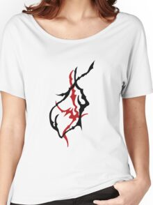 Two tone Tribal Art Women's Relaxed Fit T-Shirt