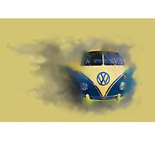 A Camper Van of Cloudy Stuff Emerges Photographic Print