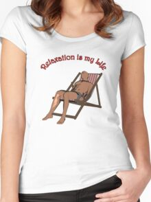 Relaxation 2 Women's Fitted Scoop T-Shirt