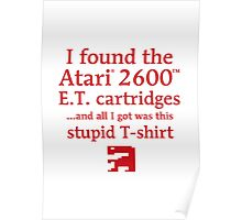 I found the ET cartridges (Red) Poster