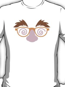 Cute April fools funny face disguise T-Shirt