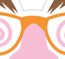 Cute April fools funny face disguise Sticker