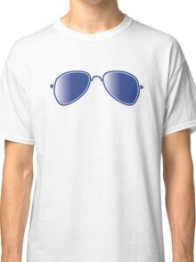 Aviator glasses cool with reflections Classic T-Shirt