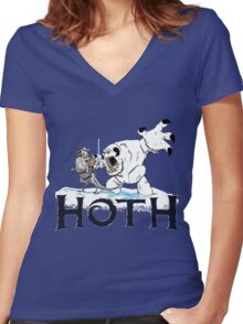 The Frozen Planet of Hoth Women's Fitted V-Neck T-Shirt