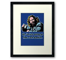 Big Lebowski Philosophy 10 Framed Print