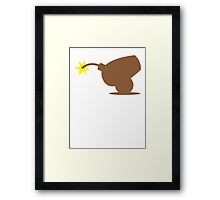 Brown canon about to explode  Framed Print
