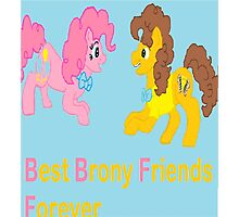 Best Brony Friends Forever  Photographic Print