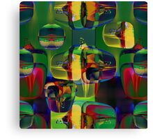 Art with Glass Abstract Canvas Print