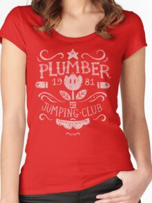 Plumber Jumping Club Women's Fitted Scoop T-Shirt