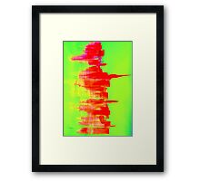 Nyc abstract skyline  Framed Print