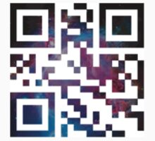 'DEAN LOVES CAS PASS IT ON' in QR Code - Galaxy by ChibiPeppers