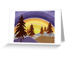 Pine Forest Sunset Greeting Card