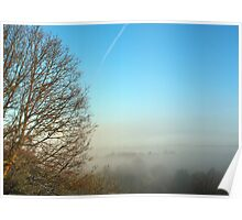 Sunrise over the valley Poster