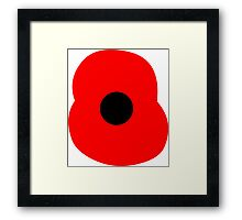 Rememberance Poppy Framed Print