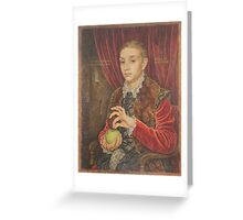The Grand Budapest presents Boy With Apple Greeting Card