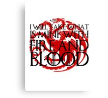 Game of Thrones - Fire and Blood Canvas Print