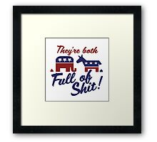 Political party humor Framed Print