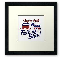 Political party humor Framed Print