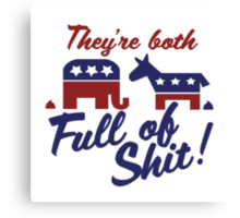 Political party humor Canvas Print