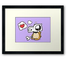 Cute Cubone Framed Print