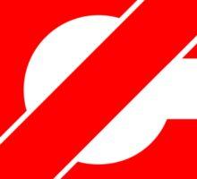 Public Domain Symbol, Copyleft [Red Ink] Sticker