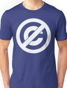 Public Domain Symbol, Copyleft [White Ink] Unisex T-Shirt