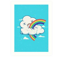 Cloud Hates Rainbow Art Print